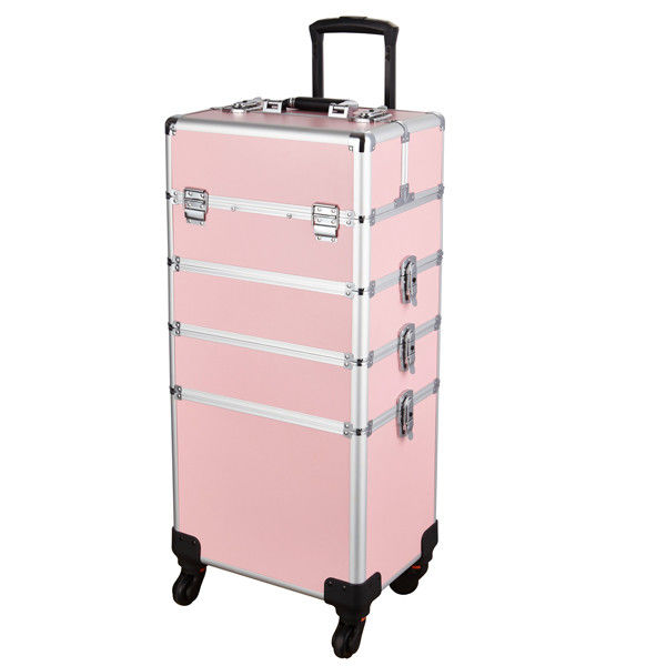 Professional Makeup Vanity Trolley Case With Removable Universal Wheel